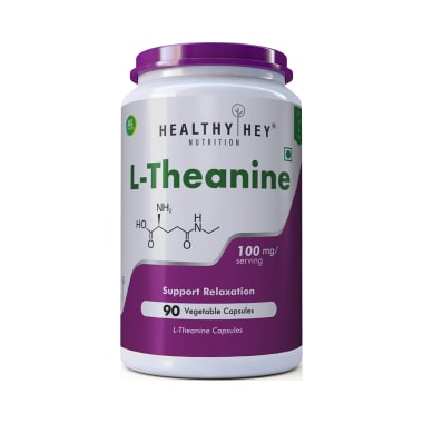 HealthyHey L-Theanine 100mg Vegetable Capsules