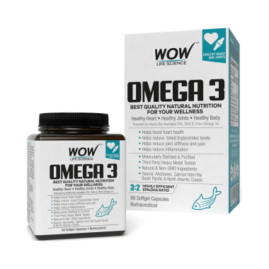 WOW Life Science Omega 3 Softgel Capsule