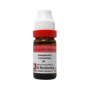 Dr. Reckeweg  Sanguinaria Canadensis Dilution 30 CH