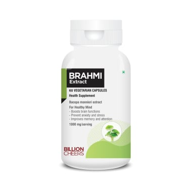 Billion Cheers Brahmi Extract Vegetarian Capsules