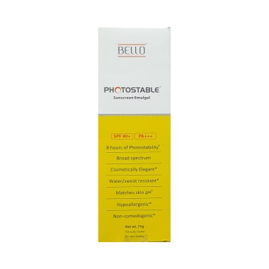 Bello Photostable Spf 40+ Sunscreen Emulgel