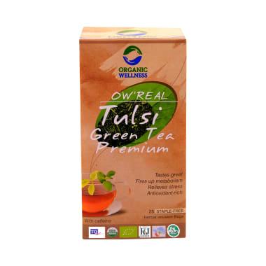 Organic Wellness OW' Real Tulsi Herbal Infusion Bags Green Tea Premium