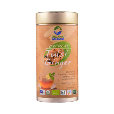 Organic Wellness OW' Real Tulsi Herbal Infusion Blend Ginger