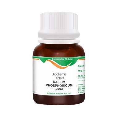 Bio India Kalium Phosphoricum Biochemic Tablet 200X