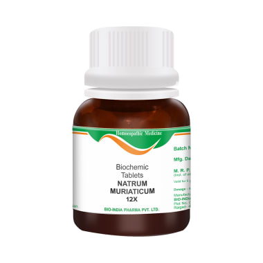 Bio India Natrum Muriaticum Biochemic Tablet 12X