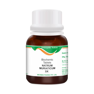 Bio India Natrum Muriaticum Biochemic Tablet 3X