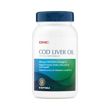 GNC Cod Liver Oil Omega 3 Softgels