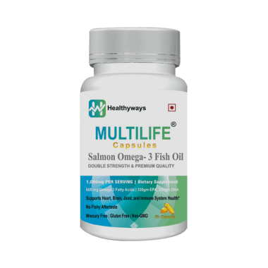 Multilife Capsule Salmon Omega 3 Fish Oil Double Strength