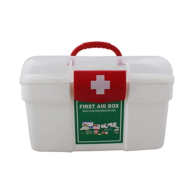 Isha Surgical Plastic First Aid Box Large White