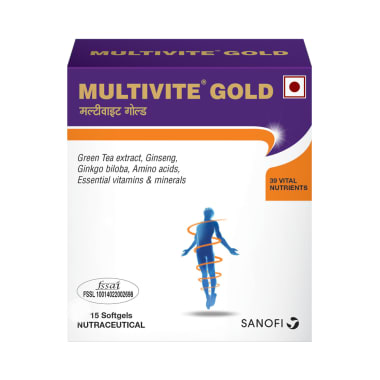 Multivite Gold Daily Health Supplement Softgels