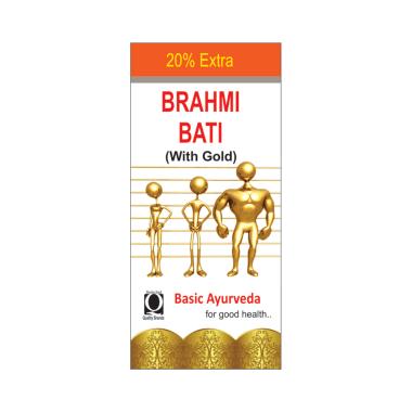 Basic Ayurveda Brahmi Bati with Gold