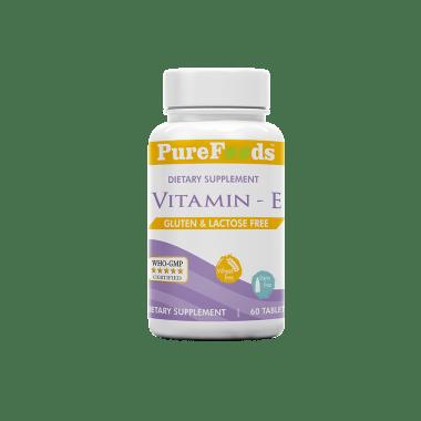 PureFoods Vitamin E Capsule Gluten Free