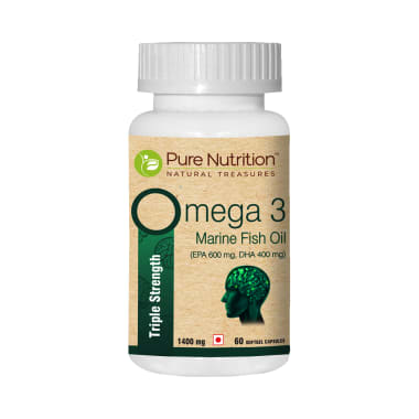 Pure Nutrition Omega 3 Triple Strength 1400mg Soft Gelatin Capsule