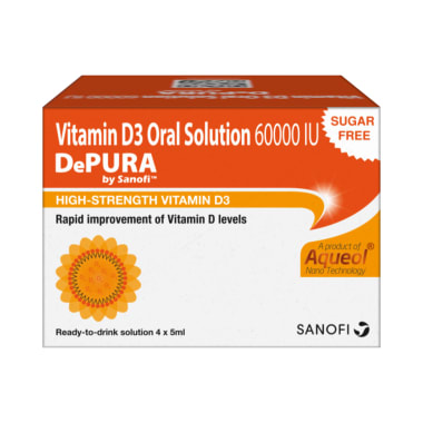 Depura Vitamin D3 60000IU Oral Solution (5ml each) Sugar Free