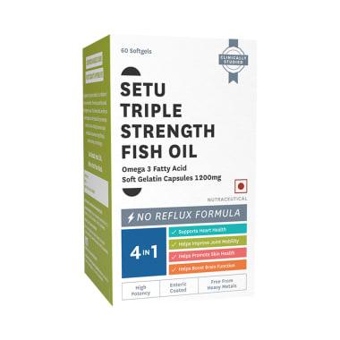 Setu Triple Strength Fish Oil 1200mg Soft Gelatin Capsule