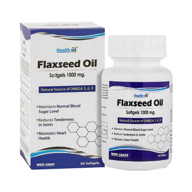 HealthVit Flaxseed Oil 1000mg Softgel