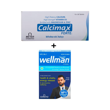 Calcimax Forte Plus Tablet with Wellman 30 Tablet Free