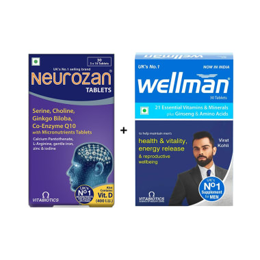 Neurozan Tablet with Wellman 30 Tablet Free