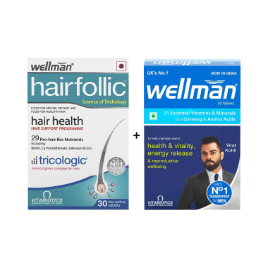 Wellman Hairfollic Hair Supplement Tablet
