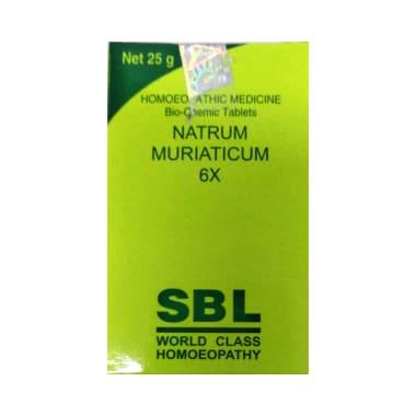 SBL Natrum Muriaticum Biochemic Tablet 6X