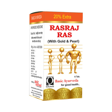 Basic Ayurveda Rasraj Ras with Gold & Pearl
