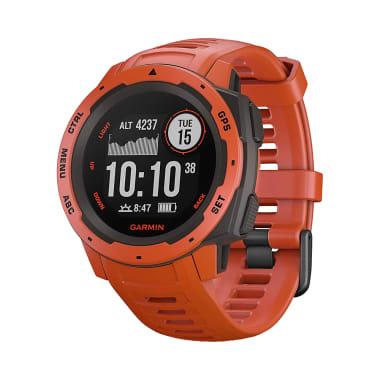 Garmin Instinct Wearable GPS Running Smartwatch Flame Red