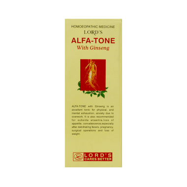 Lord's Alfa-Tone With Ginseng Tonic