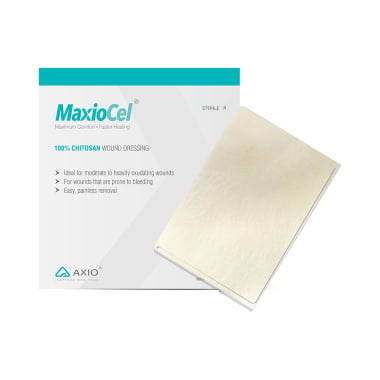 MaxioCel 100% Chitosan Wound Dressing 20x30cm for Burns