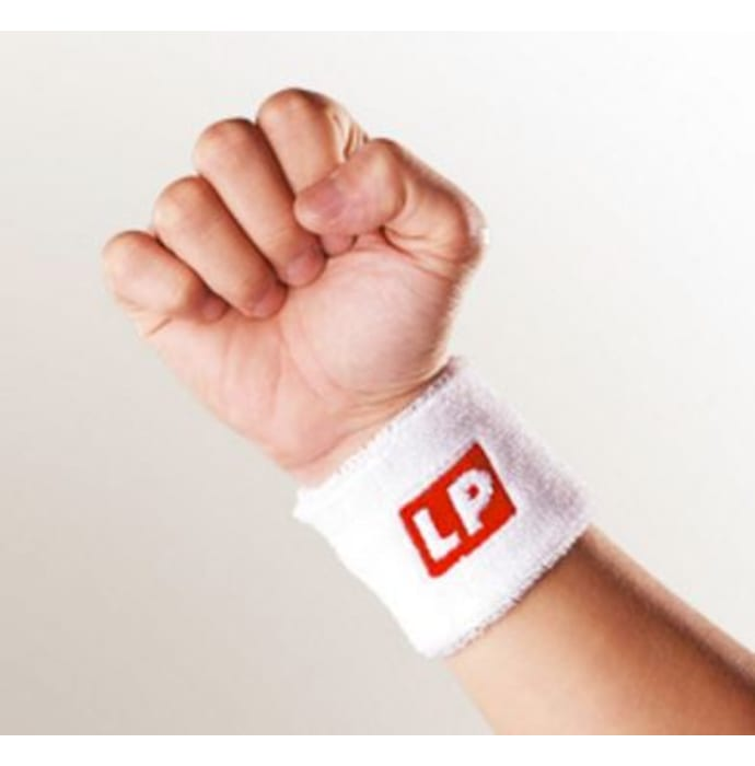 LP 662 Wrist Sweat Band (Pair) White