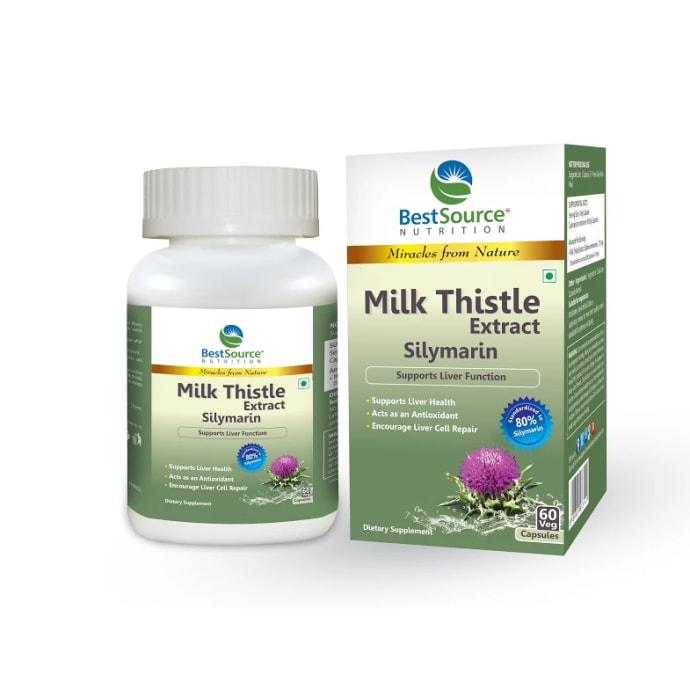BestSource Nutrition Milk Thistle Extract Silymarin Capsule