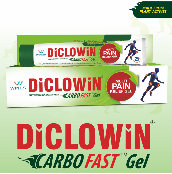 Diclowin Carbofast Pain Relief Gel