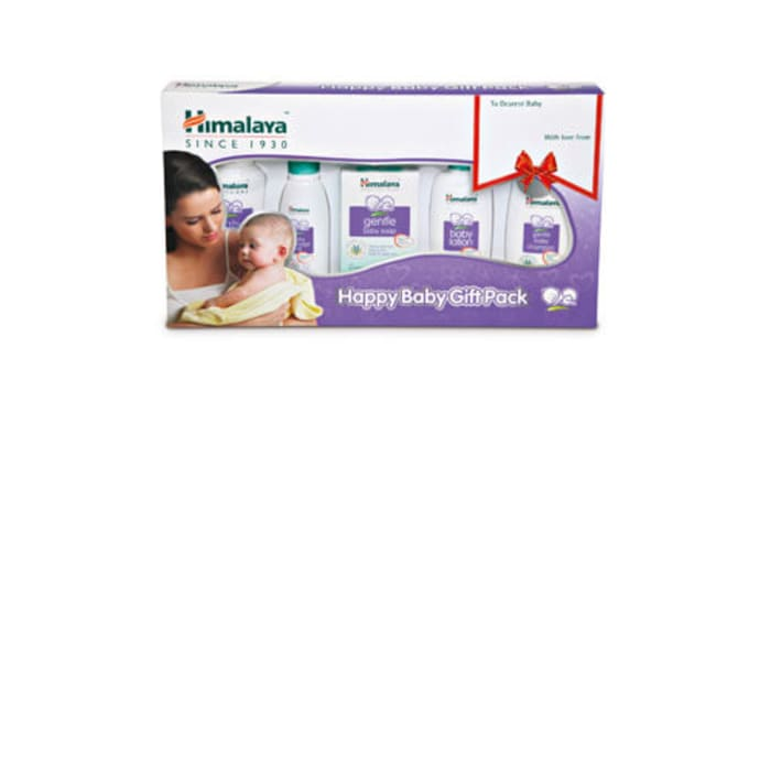 Himalaya Happy Baby Gift Pack(Oil Powder Soap Lotion Shampoo) Various