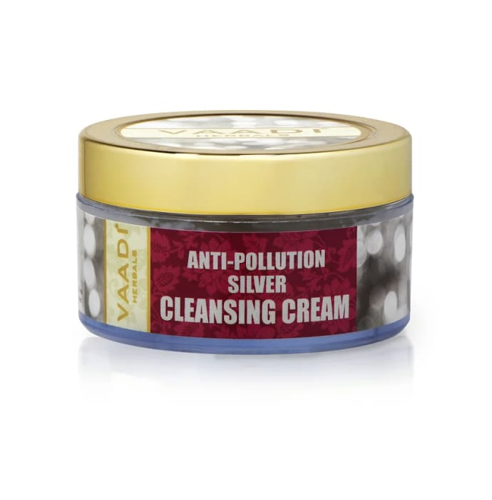 Vaadi Herbals Anti-Pollution Silver Cleansing Cream - Pure Silver Dust & Sandalwood Oil