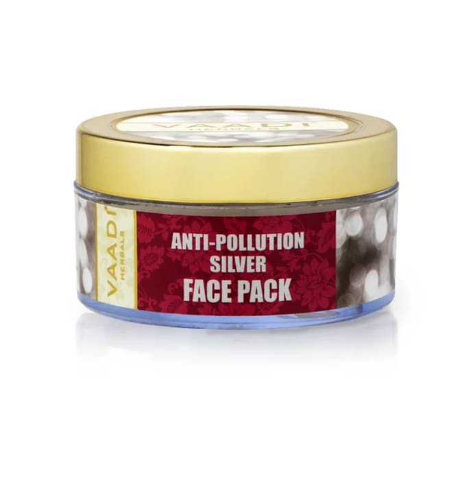 Vaadi Herbals Anti-Pollution Silver Face Pack - Pure Silver Dust & Lavender Oil
