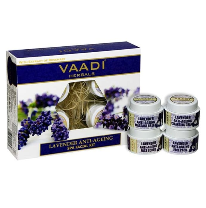 Vaadi Herbals Lavender Anti-Ageing SPA Facial Kit with Rosemary Extract 70gm