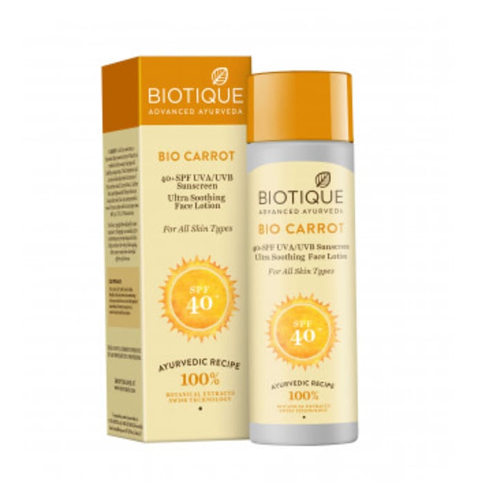 Biotique Carrot 40 SPF Sunscreen for all Skin Types Lotion