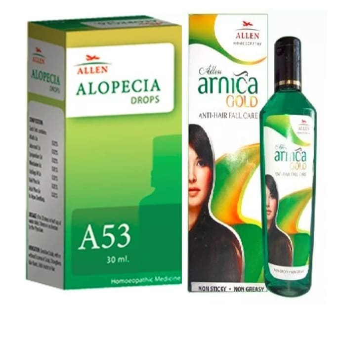 Allen Hair Care Combo (A53 + Arnica Gold Oil)