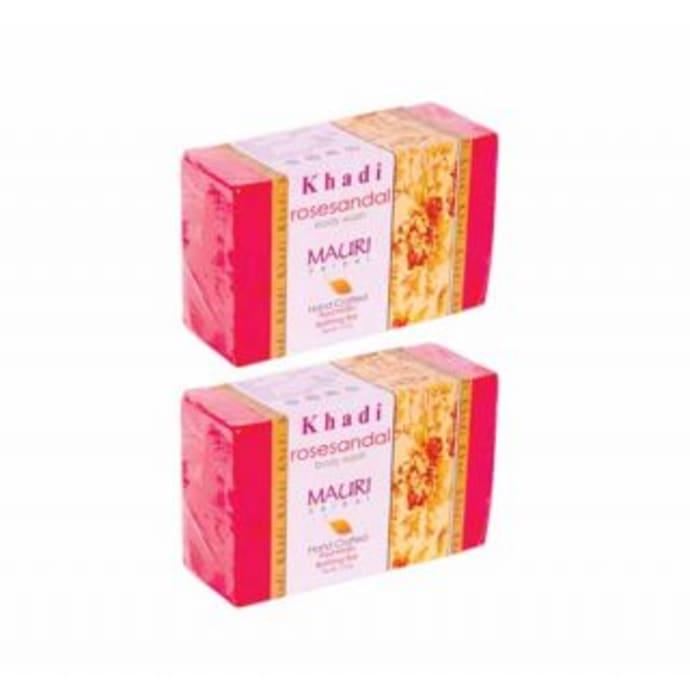 Khadi Mauri Herbal Rose Sandal Soap