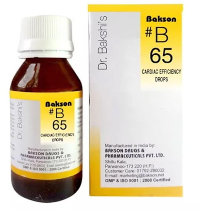Bakson's B65 Cardiac Efficiency Drop