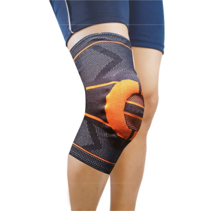 Dyna 3D Knitted Knee Cap M Orange Right
