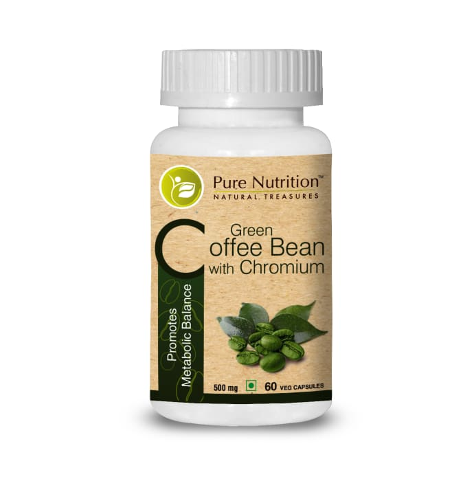 Pure Nutrition Green Coffee Bean with Chromium Capsule