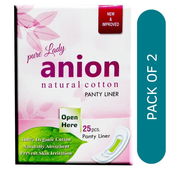 Happy Time Pure Anion Panty Liner Regular Pack of 2