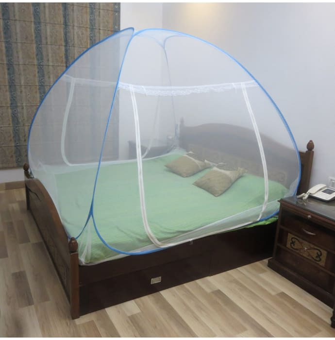 Healthgenie Double Bed Mosquito Net Blue
