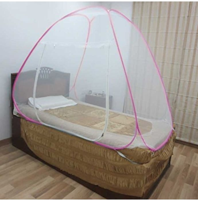 Healthgenie Single Bed Mosquito Net Pink