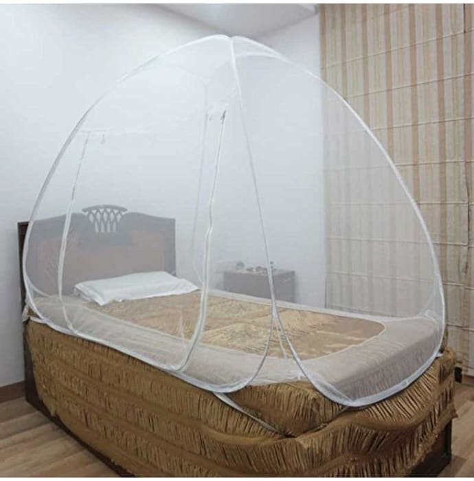 Healthgenie Single Bed Mosquito Net White