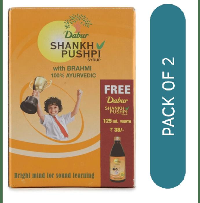 Dabur Shankhpushpi Syrup 225ml with 125ml Free Pack of 2