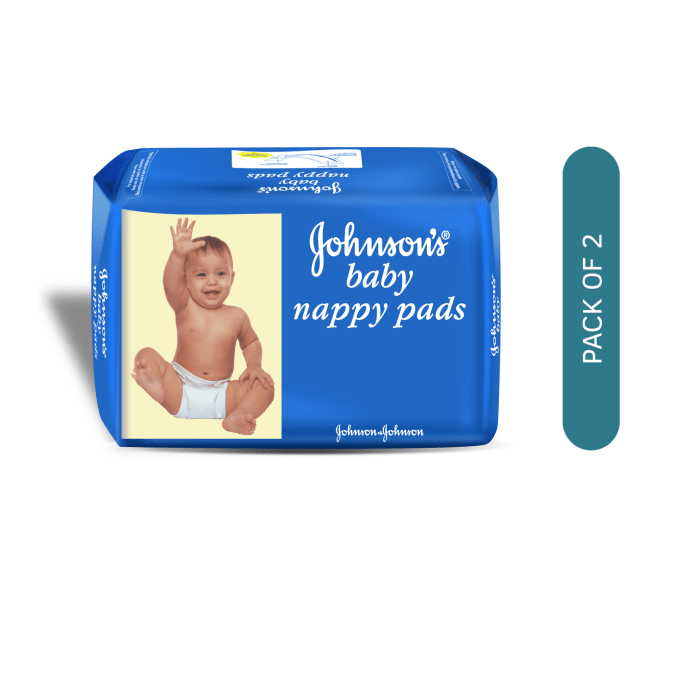 Johnsons Baby Nappy Pads Pack of 2