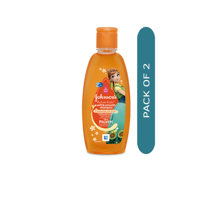 Johnsons Active Kids Soft & Smooth Shampoo Pack of 2