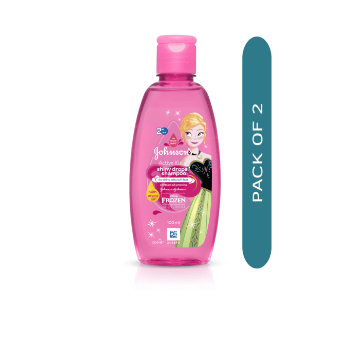 Johnsons Active Kids Shiny Drops Shampoo with Argan Oil Pack of 2