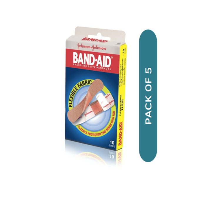 Johnsons Flexible Fabric Band-Aid (Strips) Pack of 5